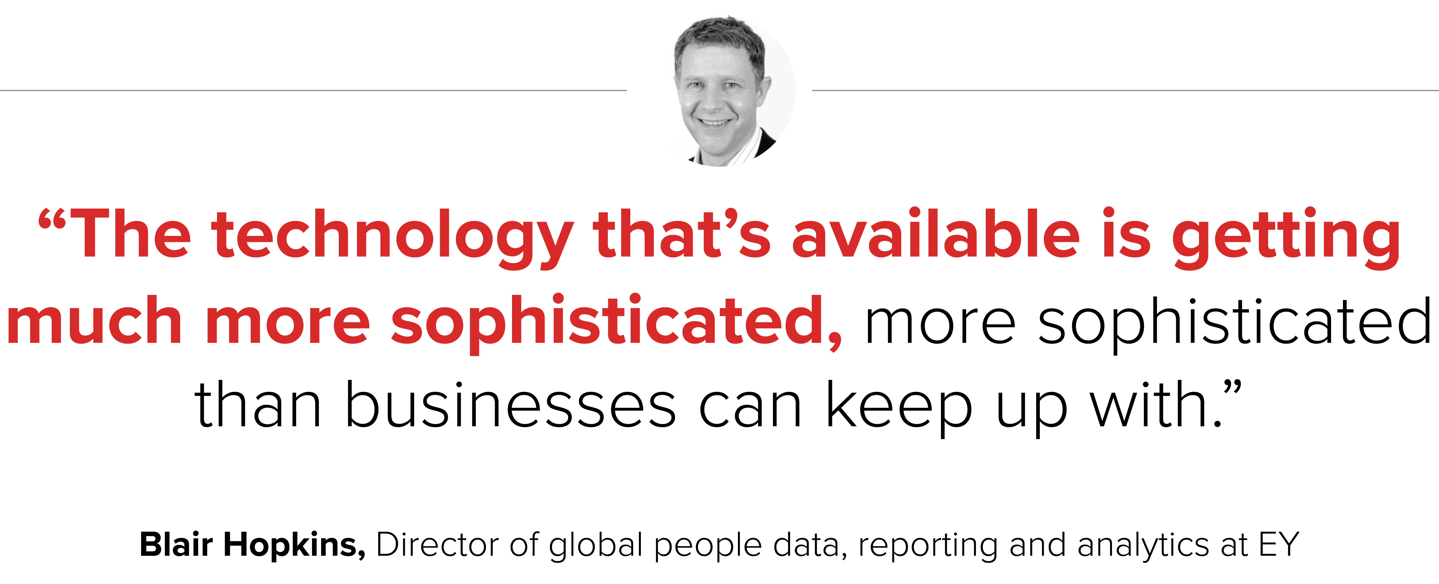 Technology used in people analytics at EY